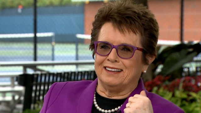 billie jean king on bobby riggs cheating accusations i just beat his butt video   abc news