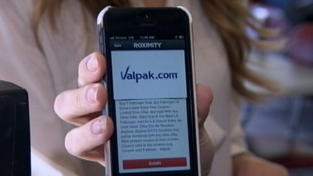 "VIDEO: ""Roximity"" smartphone app transforms coupons in mailers into ""real-time"" deals in the car."