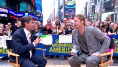 "VIDEO: ""World War Z"" actor discusses his new thriller, recent health decision by his partner."