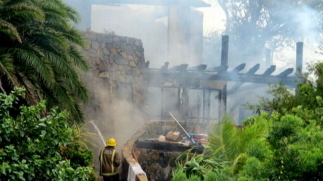 VIDEO: Billionaire talks exclusively to GMA about the fire at his Caribbean mansion.