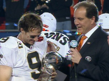 VIDEO: The Saints quarterback talks about his teams first Super Bowl victory.