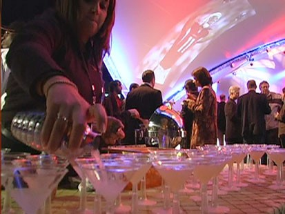 VIDEO: A sponsered Super Bowl party.