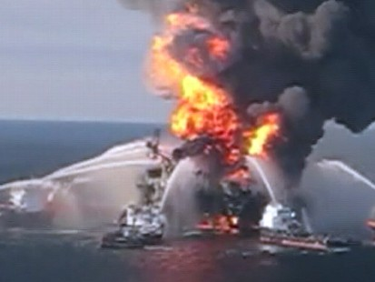 VIDEO: Deepwater Horizon rig workers say there was no alarm before the first blast.