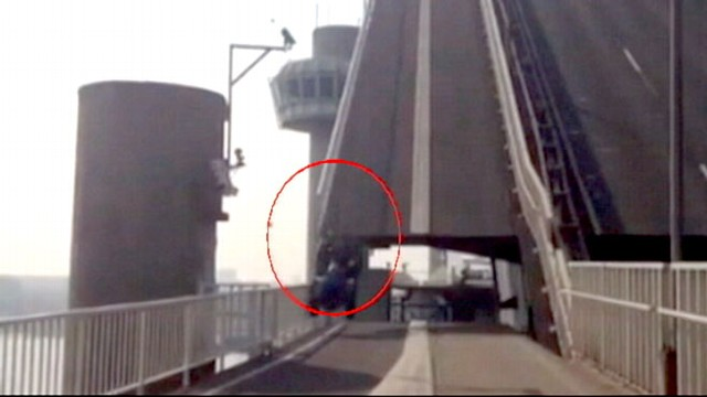 Video: Drawbridge Sends Vehicle Flying