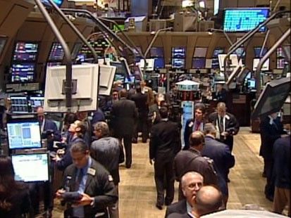 A picture of the New York Stock Exchange.