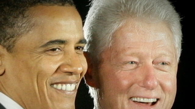 VIDEO: The former president paired up with Obama for a weekend of campaigning.