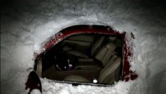 VIDEO: Rescuers save a New Mexico family whose car was trapped under four feet of snow.