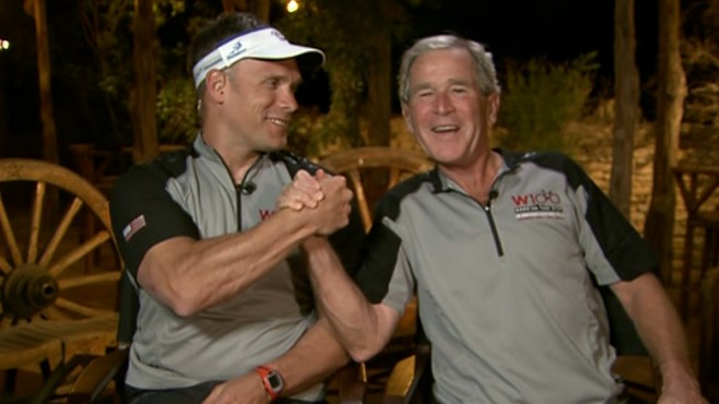 VIDEO: Former president talks to 'GMA' about his three-day bike ride with service men.