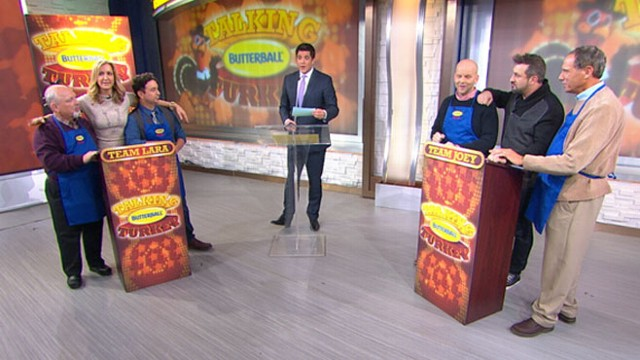 VIDEO: The first men working the Turkey Talk-Line take your Thanksgiving cooking questions.