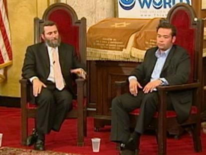 VIDEO: The reality TV star seeks spiritual guidance from Rabbi Shmuley Boteach.