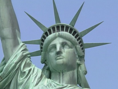 VIDEO: The top of the Statue of Liberty reopens to visitors on the 4th of July.