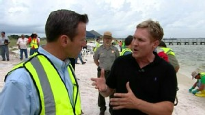 VIDEO: COO Doug Suttles is dispatched to Floridas Pensacola Beach to oversee cleanup.