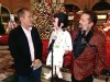 VIDEO: Sam Champion lights up a Christmas tree at the Bellagio casino on the strip.