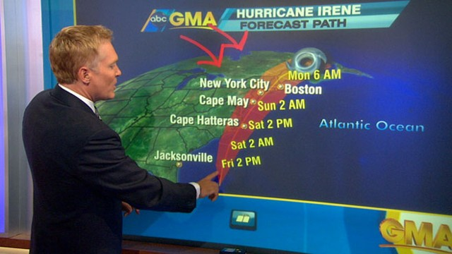 VIDEO: Sam Champion tracks the storm's path as it heads up the East Coast.
