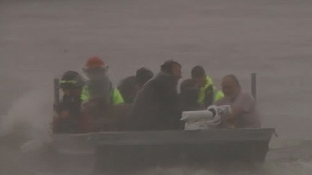 VIDEO: Many residents help each other escape the devastation of the storm.