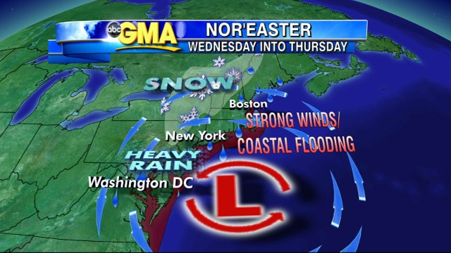 VIDEO: There is a new storm watch on the east coast as temperatures plummet to below freezing.