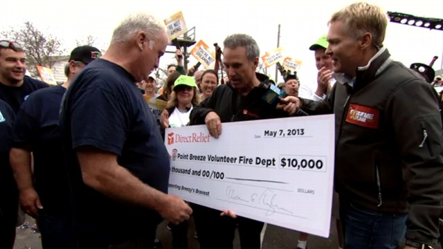 VIDEO: Breezy Point Firefighters Surprised With Funds to Rebuild