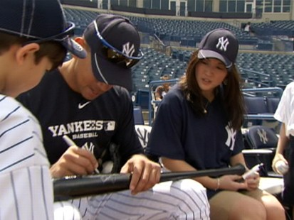 "VIDEO: The ""GMA"" anchor and her sons play baseball with Alex Rodriguez."