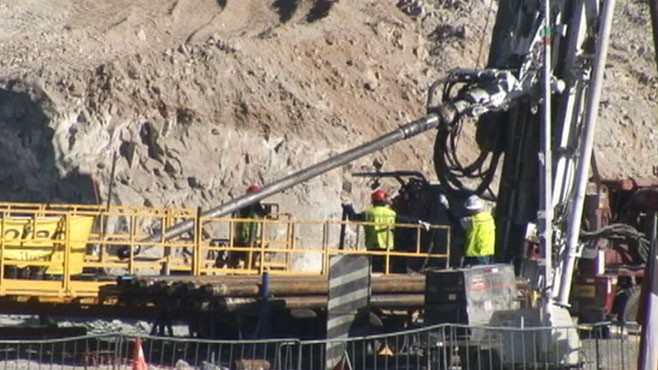 VIDEO: About 27 men are believed to be trapped underground.