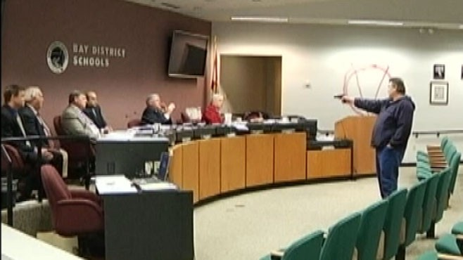 VIDEO: Gunman Interrupts Schoolboard Meeting