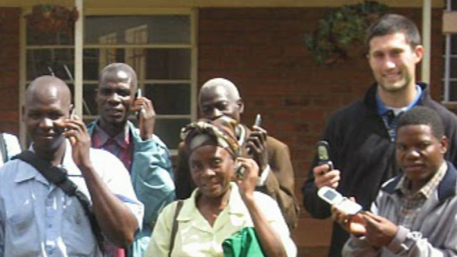 "VIDEO: Former soccer star's ""Hope Phones"" delivers phones to health workers in Malawi."