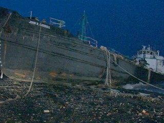 Watch: Superstorm Sandy: Tanker Washes Up on Staten Island