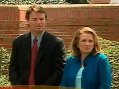 A picture of John Edwards and his wife Elizabeth.