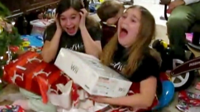 VIDEO: Viral videos show excited kids waking up to presents.