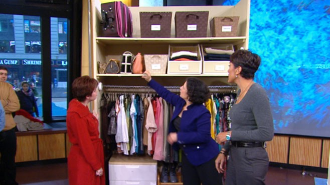 VIDEO: Organization expert Julie Morgenstern makes the most of storage space.