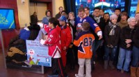 VIDEO: International Youth and Long Island pee-wee leagues bring hundreds of coats.