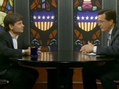 VIDEO: Stephen Colbert Grills George Stephanopoulos