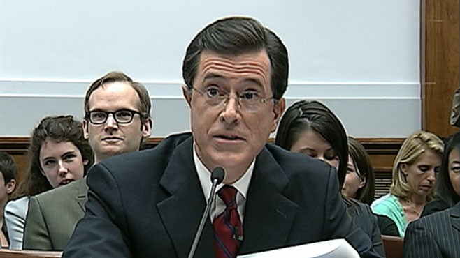 VIDEO: Some are criticizing Stephen Colbert's Capitol Hill testimony on immigration.