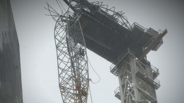 VIDEO: Superstorm Sandy Causes Crane Collapse in NYC