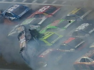 Watch: Talladega Crash: 25-Car Pileup Shocks Racing Fans