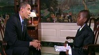 Student Damon Weaver finally interviews Barack Obama