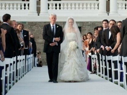 VIDEO: The former first daughter and Marc Mezvinsky wed in a private affair.