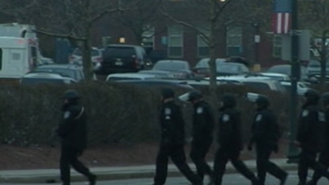 Video: Boston on Lockdown After Shootout