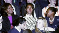 VIDEO: The president's daughters seemed less than thrilled during their trip to Ireland.