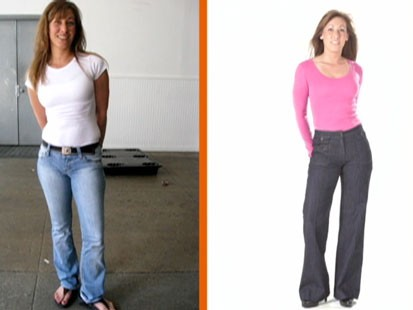 Before and after with jeans