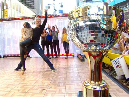 """VIDEO: The """"Dancing"""" winners show off their skills with a hand jive."""