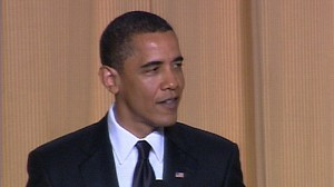 VIDEO: President brings down the house at White House Correspondents Dinner.