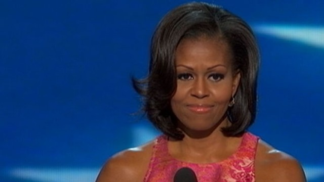 VIDEO: The first lady gave an emotional speech on the first night of the North Carolina convention.