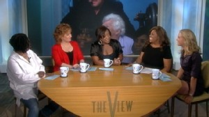 """VIDEO: The """"Living the Dream"""" winner takes her place at """"The View"""" table."""