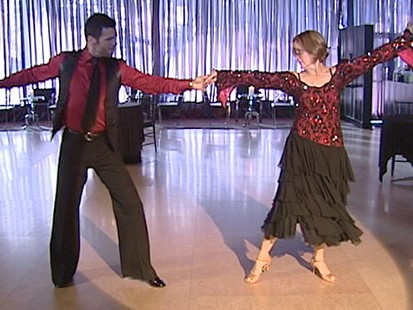 VIDEO: Gail Sylva takes a turn on the dance floor with professional Tony Dovolani.