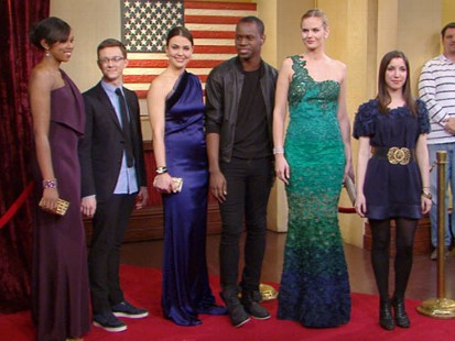 VIDEO: The designers show the final results of heir sketching and sewing.