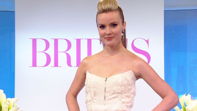 VIDEO: Brides magazine introduces five finalists as they show off their dresses.