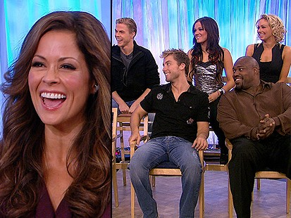 Brooke Burke and Fellow Dancing Contestants