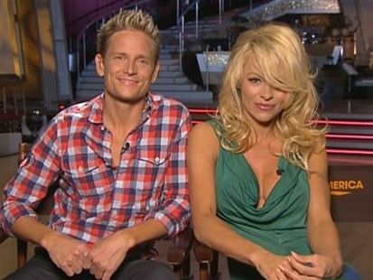 "VIDEO: Pam Anderson and Damian Whitewood talk about their ""Dancing"" experience."