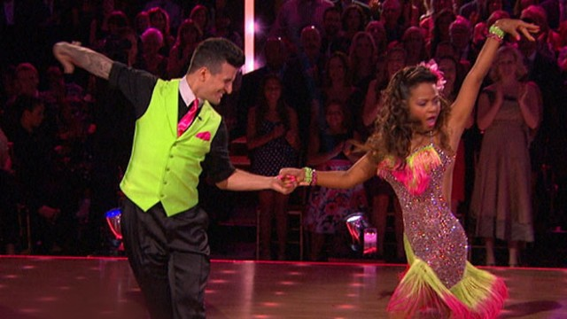 "VIDEO: The couple received a 10 from the ""Dancing With the Stars"" judges but were voted off by viewers."