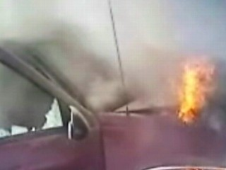 Watch: Hero Cops Save Man From Burning Vehicle: Caught on Tape